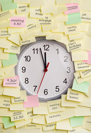 Clock postit notes image